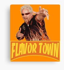 FLAVOR TOWN USA - GUY FlERl Canvas Print