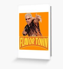 FLAVOR TOWN USA - GUY FlERl Greeting Card