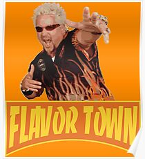 FLAVOR TOWN USA - GUY FlERl Poster