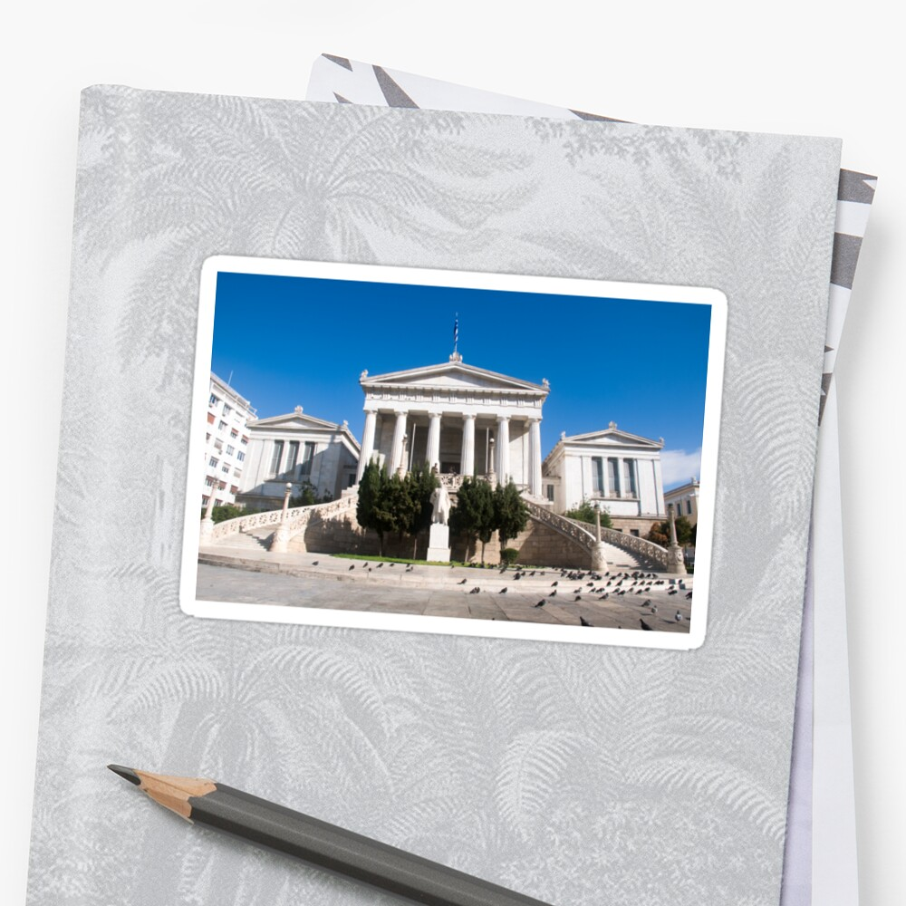 Exterior of the National Library of Greece by PhotoStock-Isra