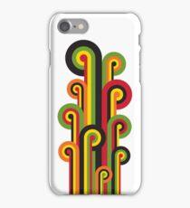 Retro Striped Floral iPhone Case/Skin