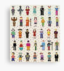 pixel people Canvas Print