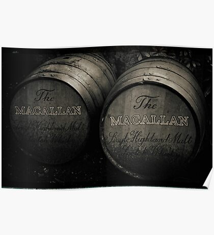 MacAllan Casks - Monochrome Poster