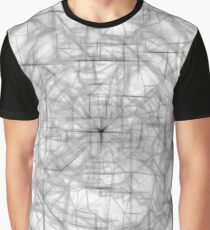 psychedelic drawing and sketching abstract pattern in black and white Graphic T-Shirt