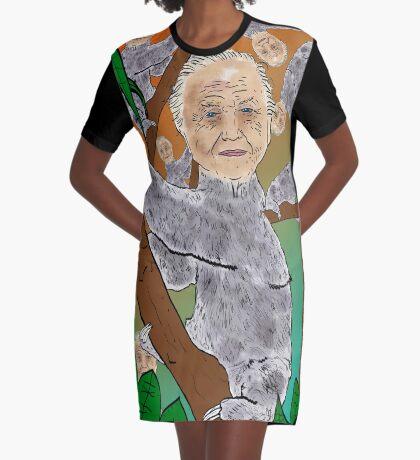 Planet Sir Sloth  Graphic T-Shirt Dress
