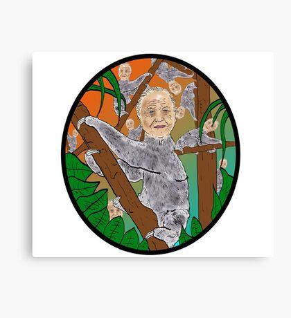 Planet Sir Sloth  Canvas Print