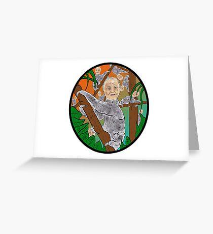 Planet Sir Sloth  Greeting Card
