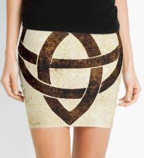 Celtic knot on old paper Mini Skirt