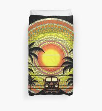 Summer Sunset Ride Duvet Cover