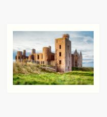 New Slains Castle Side View (Cruden Bay, Aberdeenshire, Scotland) Art Print