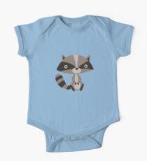 Cute Raccoon for Kids One Piece - Short Sleeve