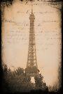Eiffel Tower Postcard - Paris by Yannik Hay