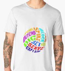 Volleyball Words Men's Premium T-Shirt