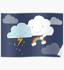get well soon little cloud poster