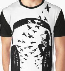 Headphone - Saxophone Graphic T-Shirt