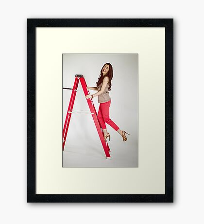 Photoshoot - Up The Ladder Framed Print