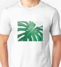 Close-up of palm leaf monstera T-Shirt