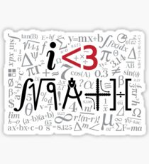 I Love Math Sticker