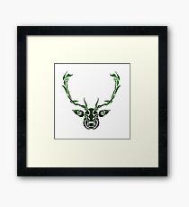 Shapes and Swirls Deer Head Framed Print