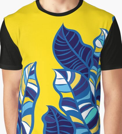 Pop foliage on Yellow Graphic T-Shirt