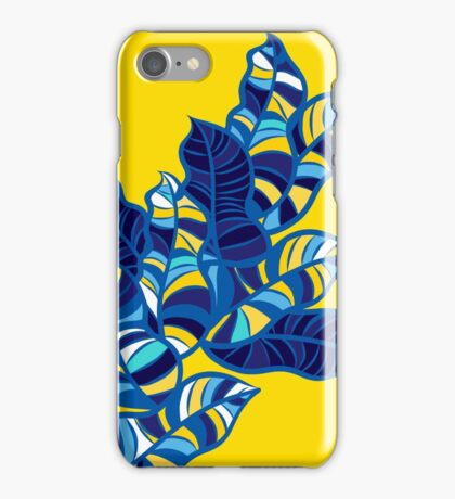 Pop foliage on Yellow iPhone Case/Skin