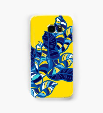 Pop foliage on Yellow Samsung Galaxy Case/Skin