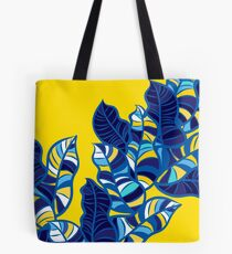 Pop foliage on Yellow Tote Bag