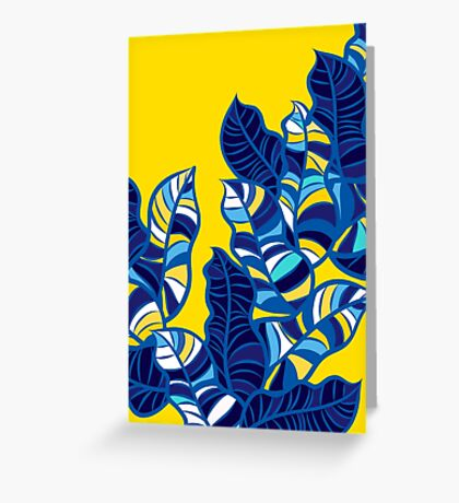 Pop foliage on Yellow Greeting Card