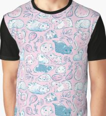 Guinea Pig Huddle In Pink Graphic T-Shirt