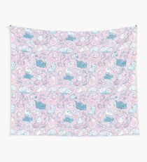 Guinea Pig Huddle In Pink Wall Tapestry