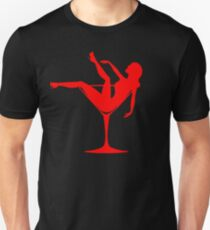Girl in a Cocktail Glass Burlesque Unisex T-Shirt
