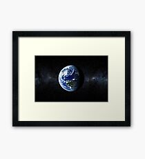EARTH. Home. The Pale Blue Dot Framed Print