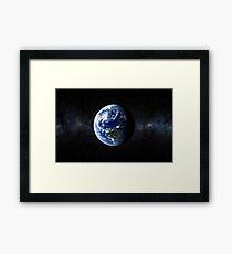 EARTH. Home. The Pale Blue Dot Framed Print