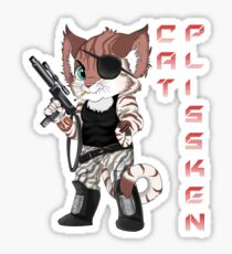 Cat Plissken Sticker