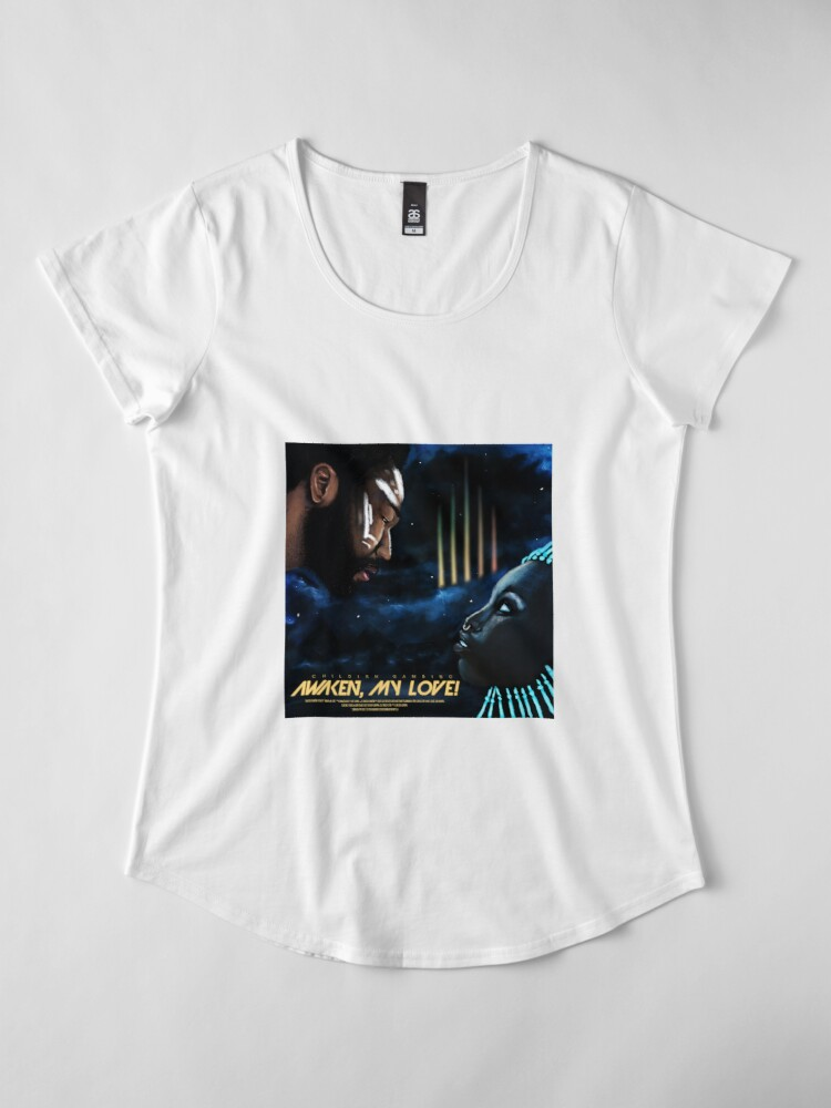 """Alternative Ansicht von Kindliches Gambino """"wecke meine Liebe!"""" Original Album Artwork (v2) Premium Rundhals-Shirt"""