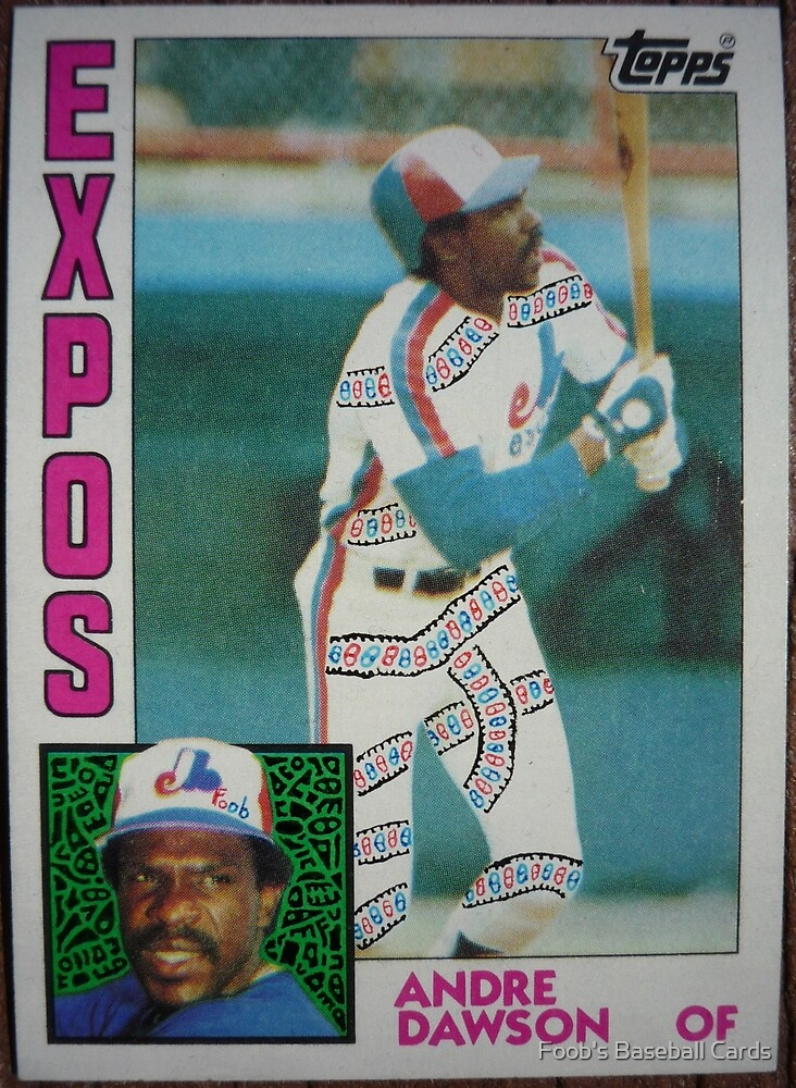 282 - Andre Dawson by Foob's Baseball Cards