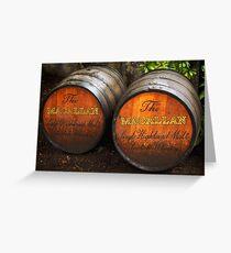 MacAllan Casks - Scotland Greeting Card