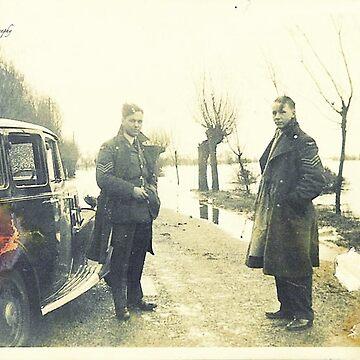 Two Sergeants, Norfolk, Uk - WWII by Photograph2u