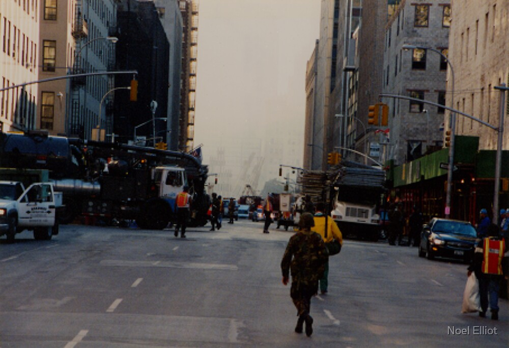 World Trade Centre Aftermath - 2001 by Noel Elliot