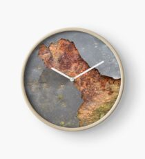 Rusted metal texture photo Clock