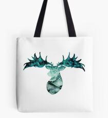 Irish Elk Silhouette Tote Bag