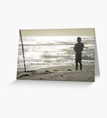 Fishing is his...... He is mine Greeting Card