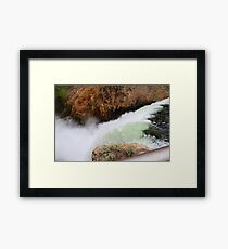 Fall With the Water Framed Print