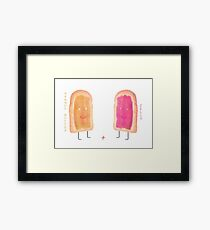 Peanut Butter & Jelly Framed Print