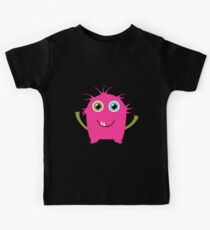 Cute and funny pink monster alien Kids Tee