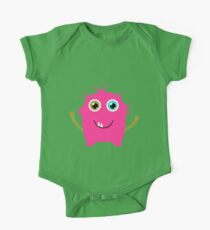 Cute and funny pink monster alien One Piece - Short Sleeve