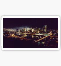 Pittsburgh at Night Sticker