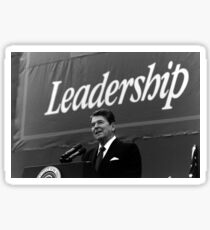 Pegatina Foto del liderazgo del presidente Ronald Reagan