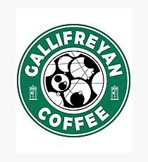 Gallifreyan Coffee Photographic Print