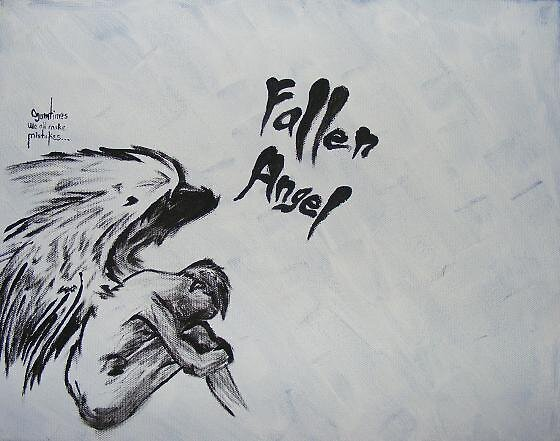 painted version of that fallen angel pic.. by Hayden Brown